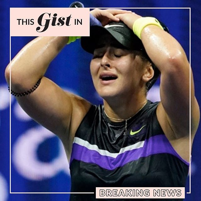 OMG! She did it!!! Bianca Andreescu is the first Canadian to ever win a Grand Slam! #SheTheNorth, BABY! #thegist