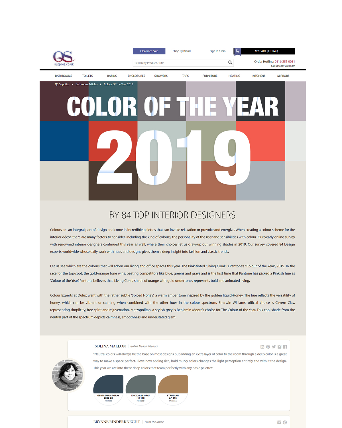 color of the year 2019   we are between the top interior designers worldwide speaking about our personal vision for the color of the year 2019.   read more.