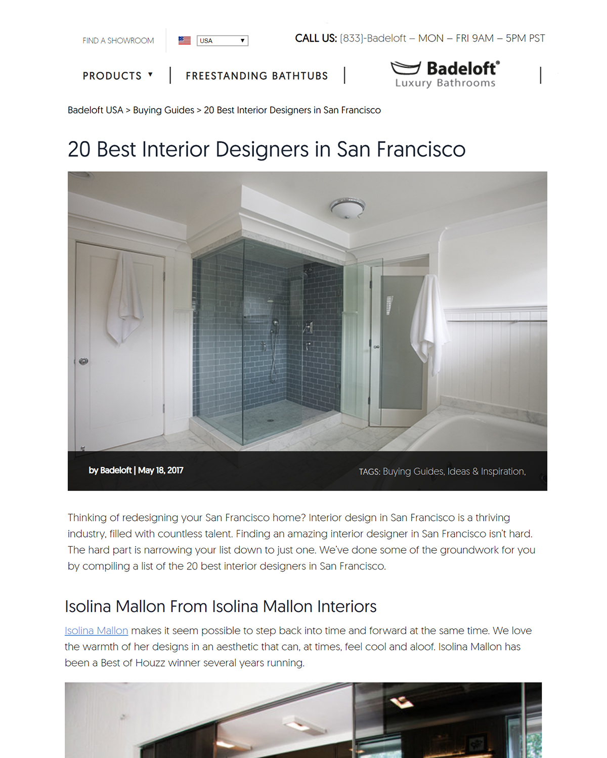 20 best interior designers in san FRANCISCO   badeloft narrowed down a list of the best interior designers in san francisco and we are proud to be in it.   read more.