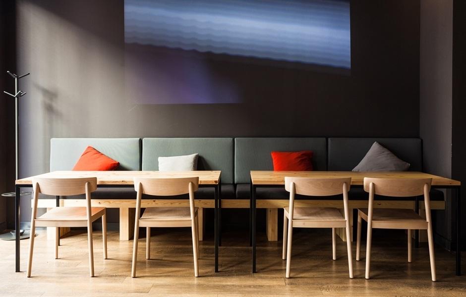 Andreu World wood chairs