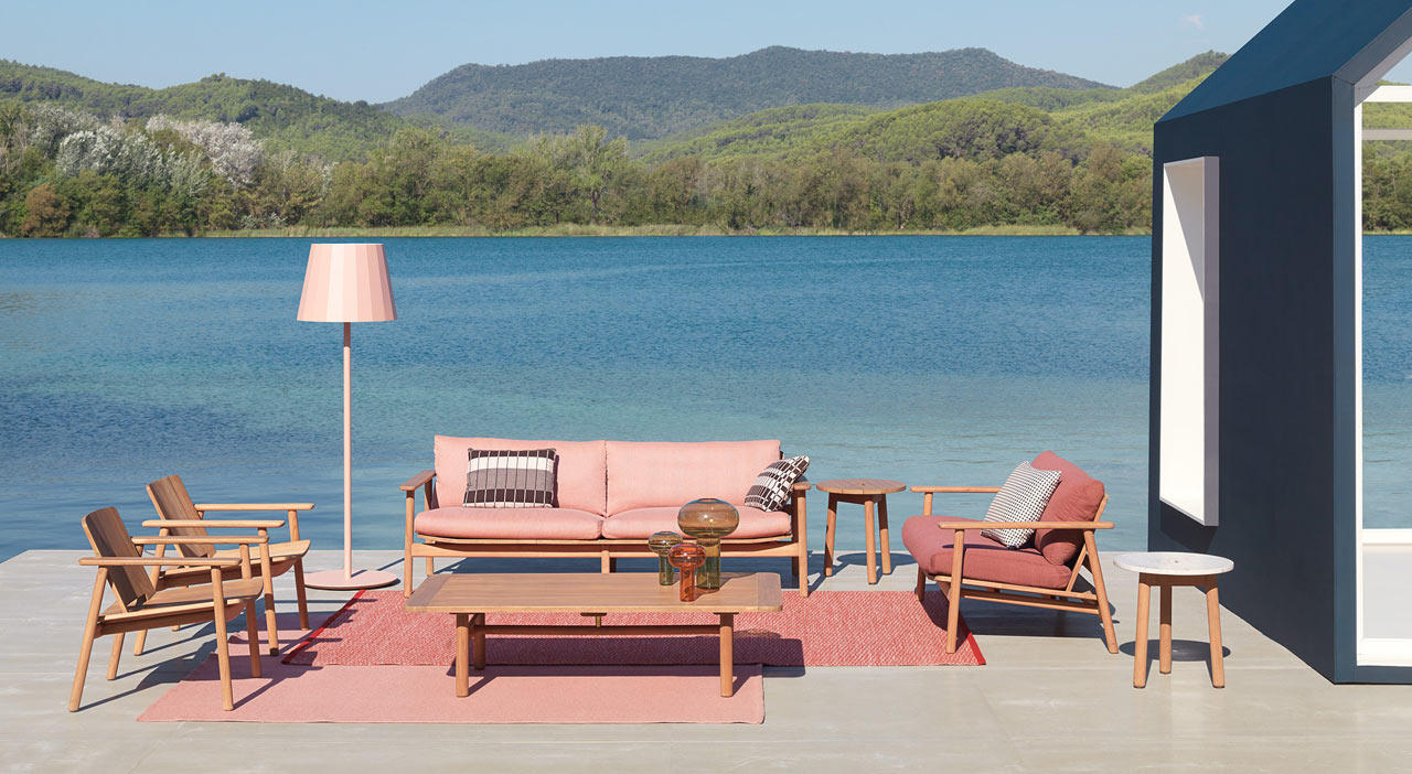kettal outdoor furniture pink