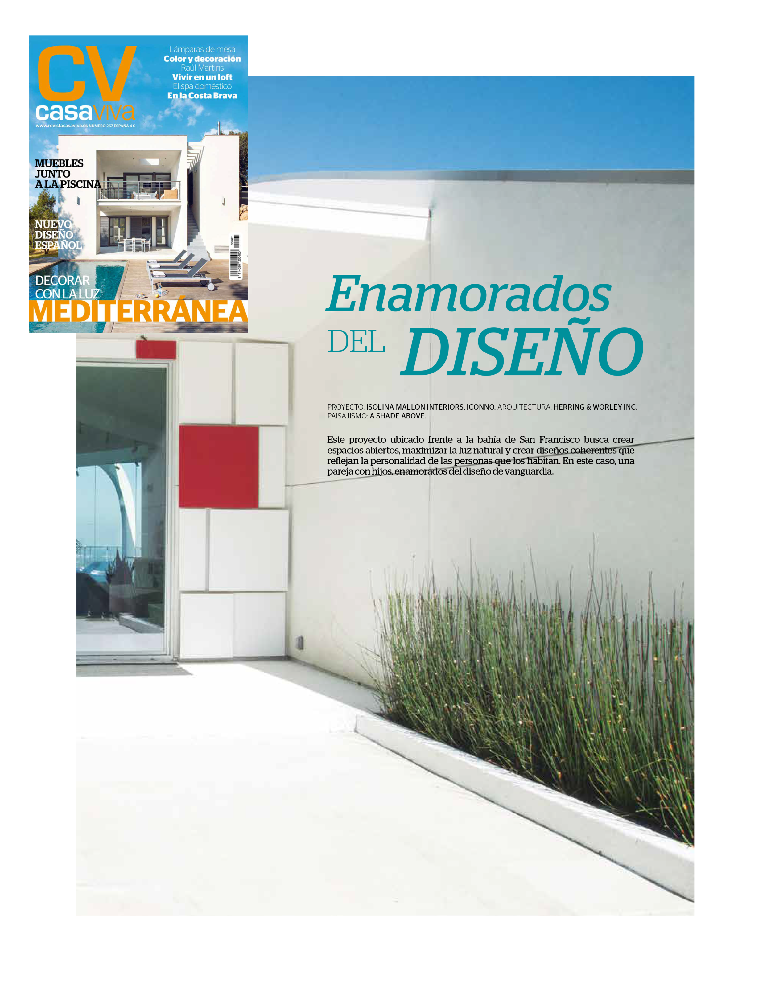 casa viva magazine. house tour. IN LOVE WITH DESIGN. august 2019.   Casa viva Spain published a house tour of our Curved House in Los Altos Hills project in his August number. Twenty-five pages featuring this beautiful work.   read more.