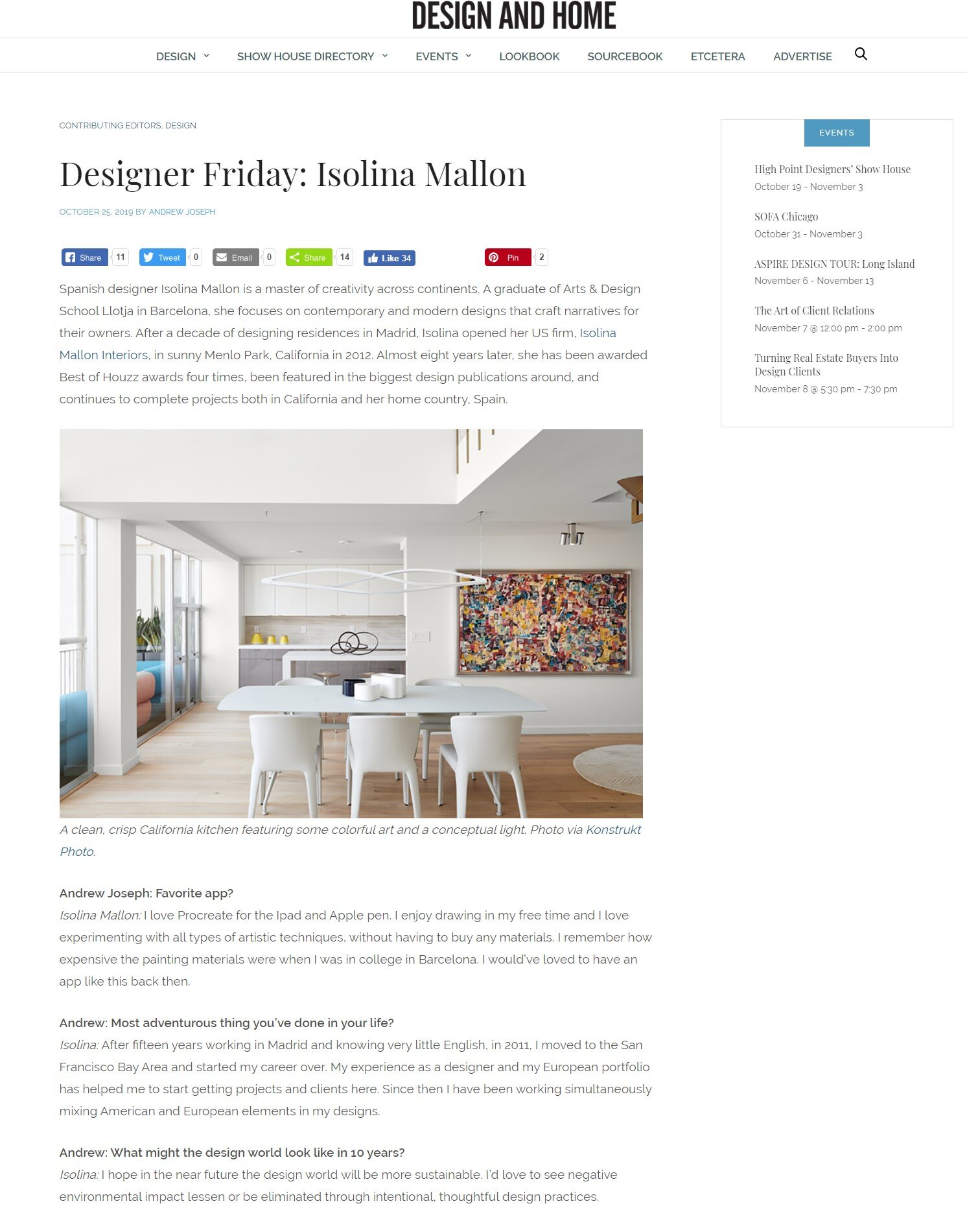 aspire design and home. designer friday: isolina Mallon. october 2019   andrew joseph interviews isolina for his designer friday. they talk a little about design and some more personal questions.   read more.