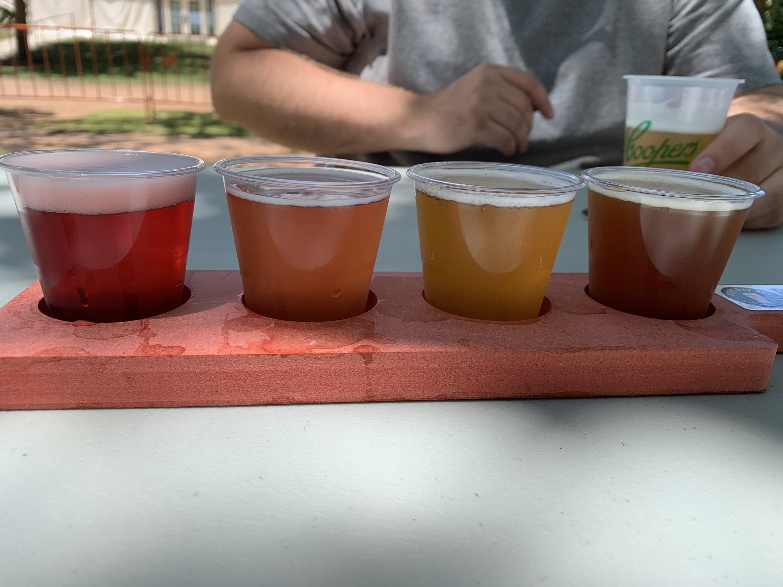 Tasting Paddle at Beer Day Out 2018