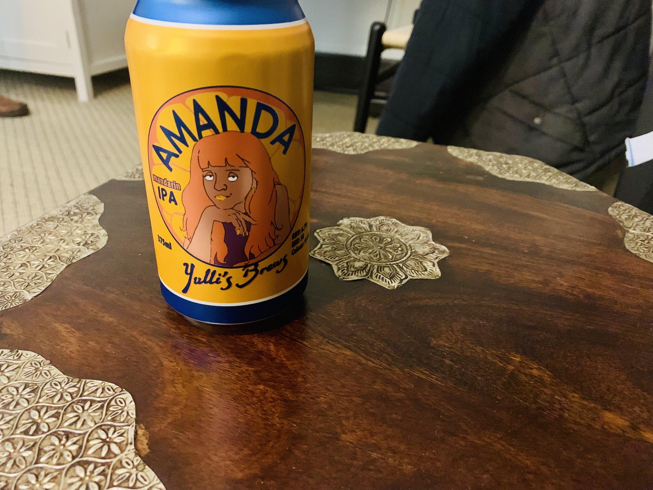 Yulli's Brews Amanda Mandarin IPA