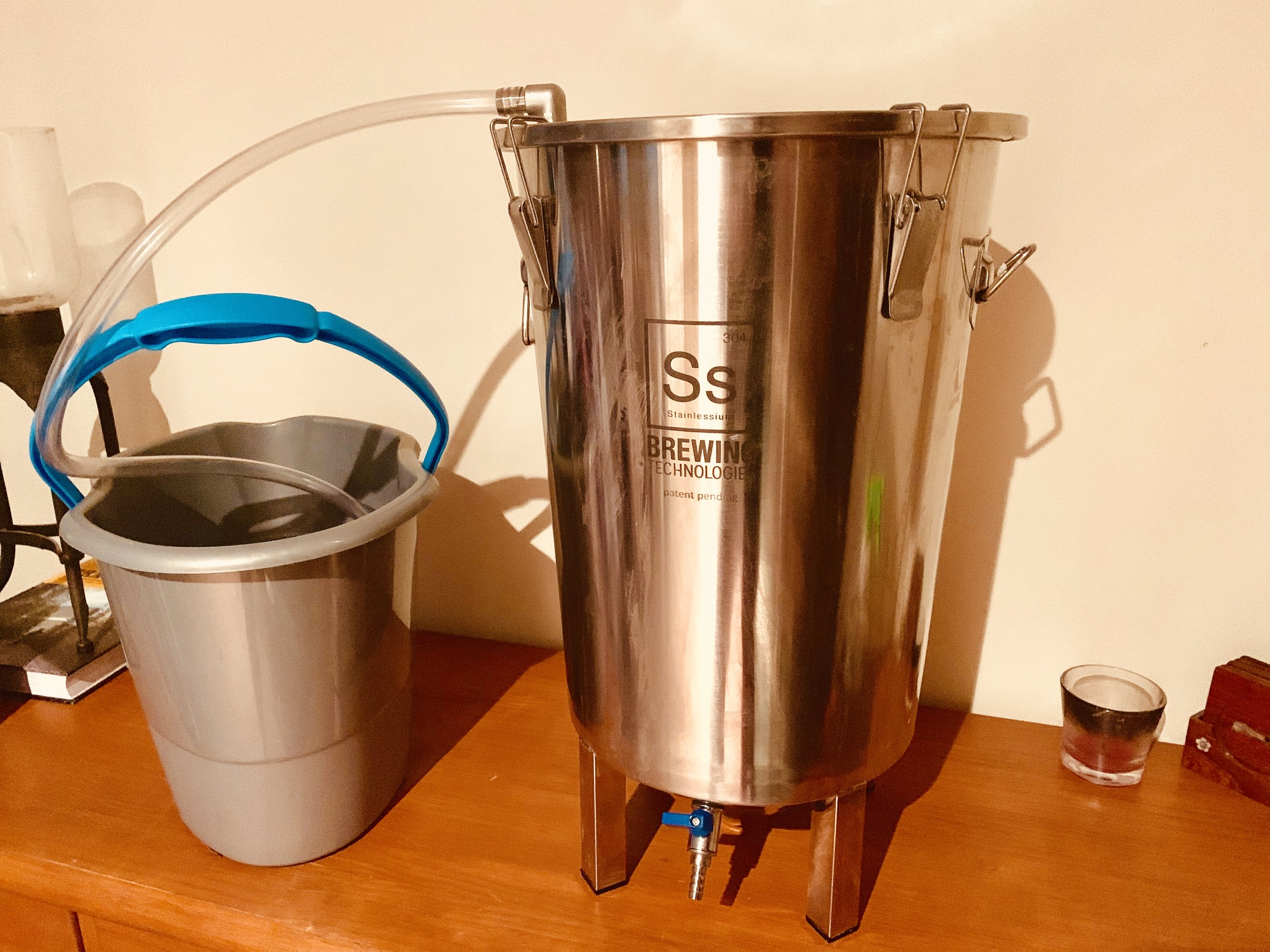 Spring Beer fermenting in the SS BrewTech Brew Bucket