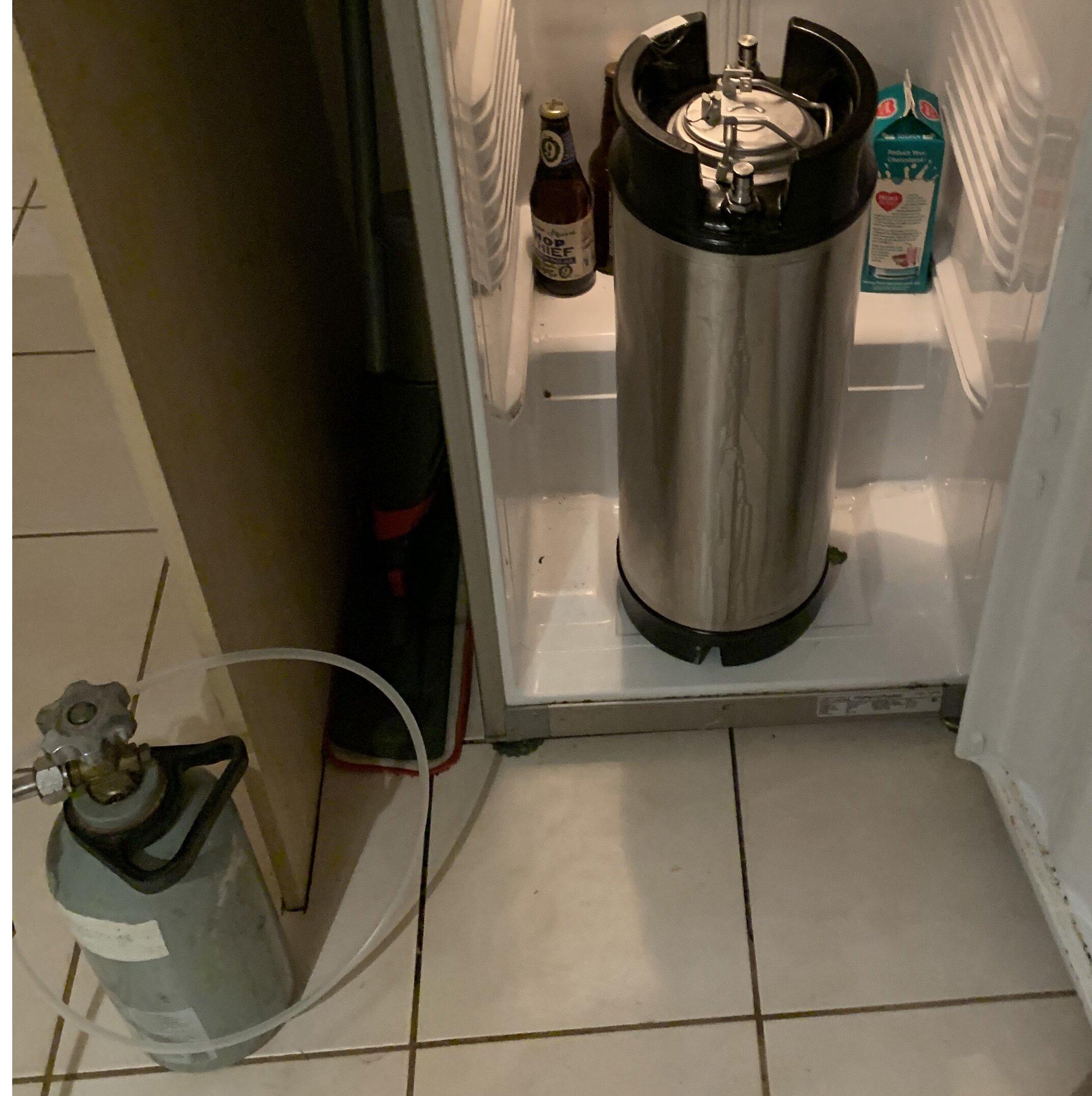Keg in fridge