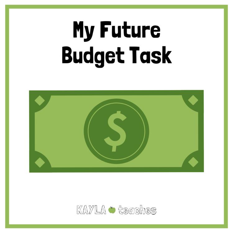 Free Future Budget Math Task for Students — KAYLAteaches