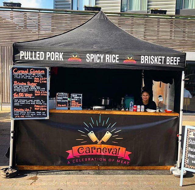 Here for 2 more hours in the beautiful sunshine. @bermondseysq  #instafood #londonstreetfood #cajunfood #smokeybbq #wrapbattle