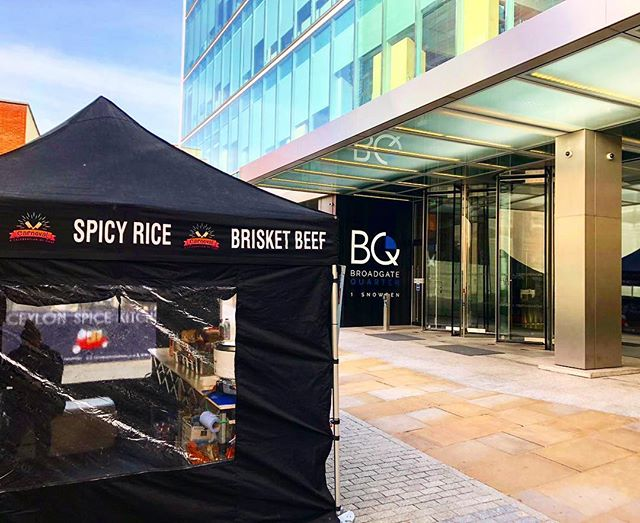Near Liverpool St today? Pop over to Broadgate Quarter for some Cajun and Smokey BBQ delights!! EC2A 2AW. #londonstreetfood #cajunfood #instafood #londonfood #pulledpork #brisket