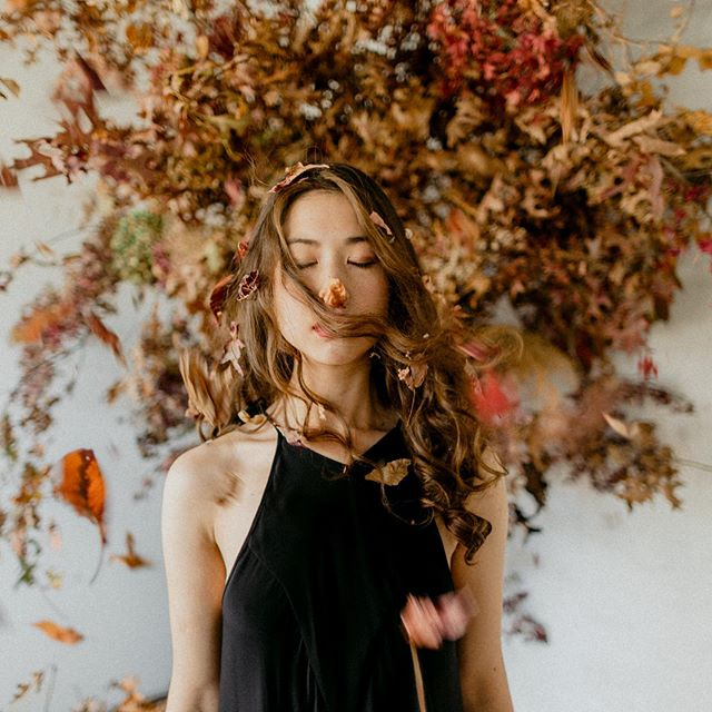 MAPLE FALL || a story about a transition of a girl from her innocent,  vulnerable self into a strong, powerful and resilient woman.  Concept & styling// @upsidedownevents  Photo// @soulmadestories  Floral // @missfloralstudio  HUMA// Coco Dee White Gown// @abouttimebridal  Model// @andreimre