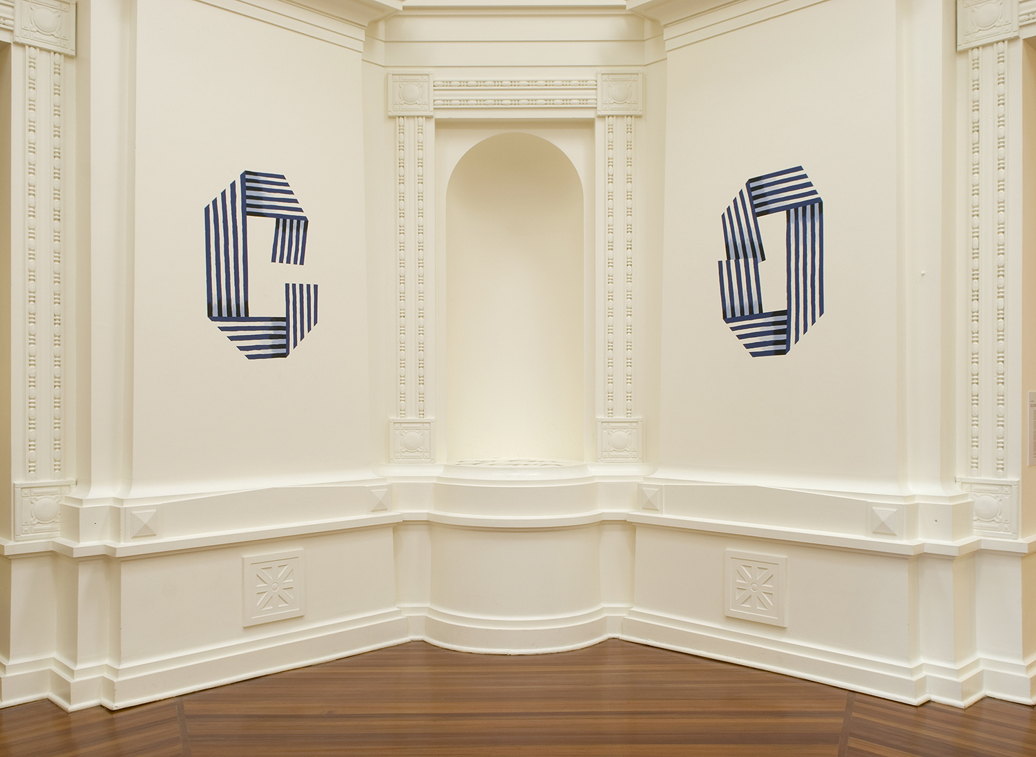 In 2012, I returned to the river town I grew up in after a 28 year absence. With some ambivalence I painted the word 'COMEBACK' around the central dome of the Sarjeant Gallery Whanganui, one letter for each side of the octagonal room, and scrawled this into the empty alcove:  DOWN RIVER RIVER FLAT FLAT CALM CALM DOWN