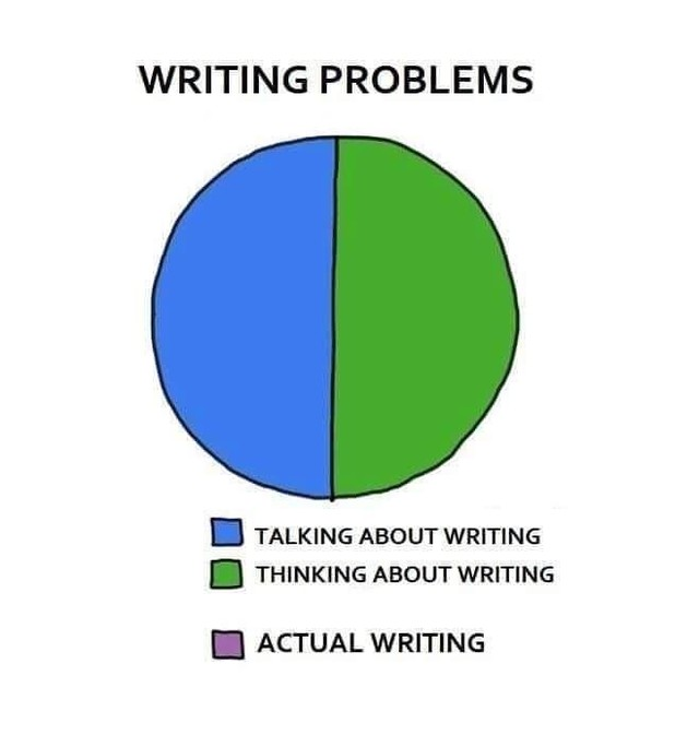 Sad but true 😂 😉 ⠀ .⠀ .⠀ .⠀ .⠀ #AmWriting #Writing #WritingProcess #Authors