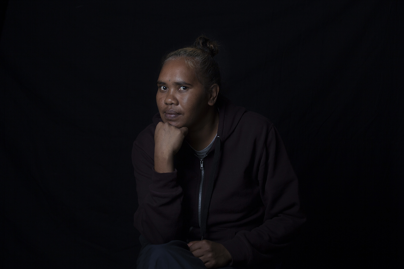 KRISTABELL PORTER    Kristabell lives in Warakurna community with her family. She has been an arts worker at Warakurna Artists since 2014, specifically working with digital design and the street wear project. Kristabell is committed to the art centre and in 2015 took on a leadership role as a Director on the board. Kristabell has recently exhibited in  NGURRA: Home in the Ngaanyatjarra Lands  (South Australian Museum, Tarnanthi Festival, 2019),  Desert Mob  (Araluen Art Centre, 2018), and  Rightfully Ours, Rightfully Yours: Visualising Indigenous Human Rights  (Perth Centre for Photography, 2016).