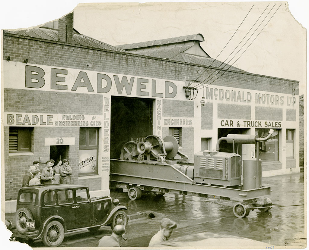 Beadweld Engineering - one of the originalbusiness at The Welder. Photo circa 1940.