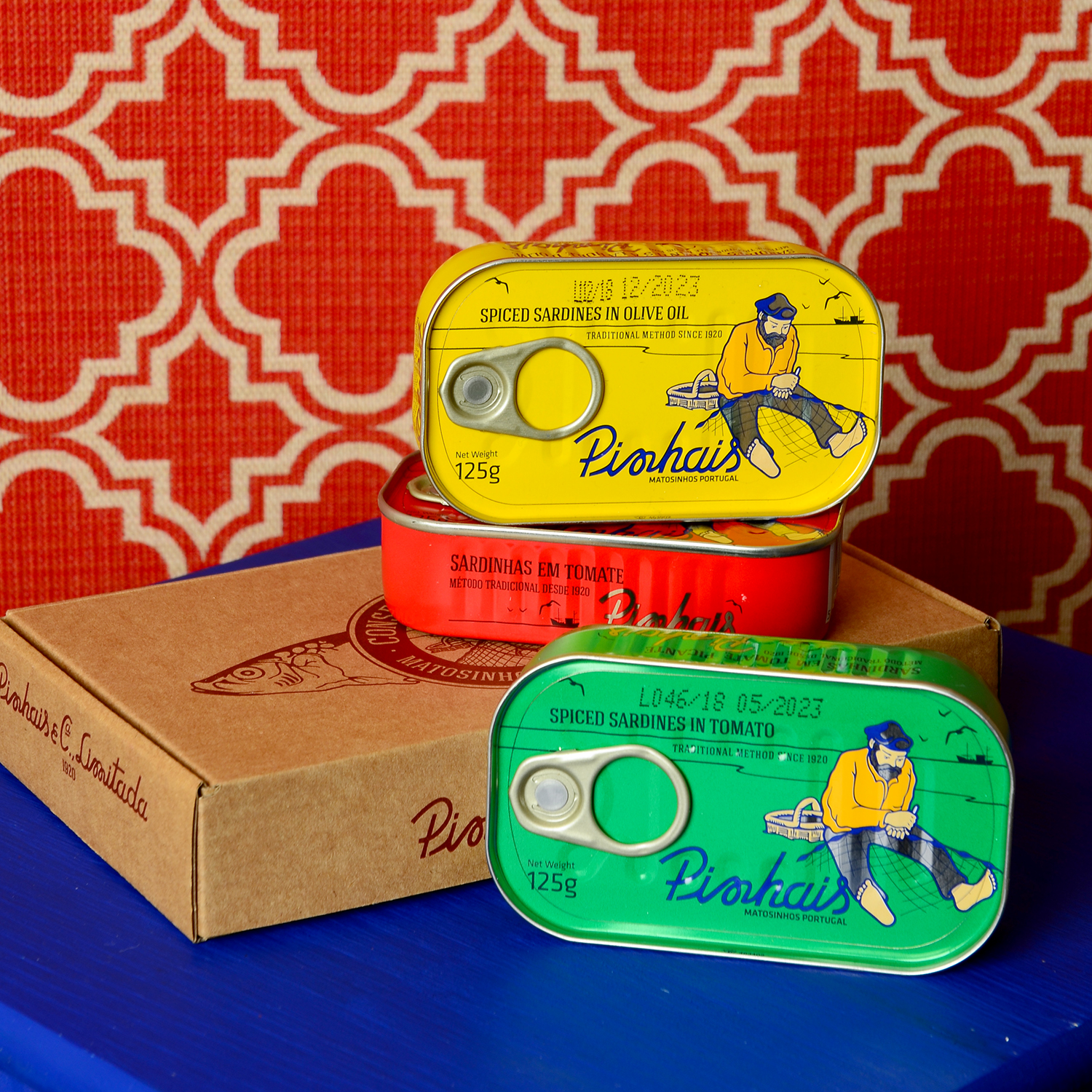 Pinhais Trio Gift Box   £13.50  The taste of Pinhais sardines takes you on a journey to the small fishing villages near Porto. This box is the perfect gift for the true fish lover. The cooking possibilities are endless with the versatile sardine… with pasta or salad, for breakfast or lunch, with avocado or simply on toast, their flavour and nutritional values are immense.