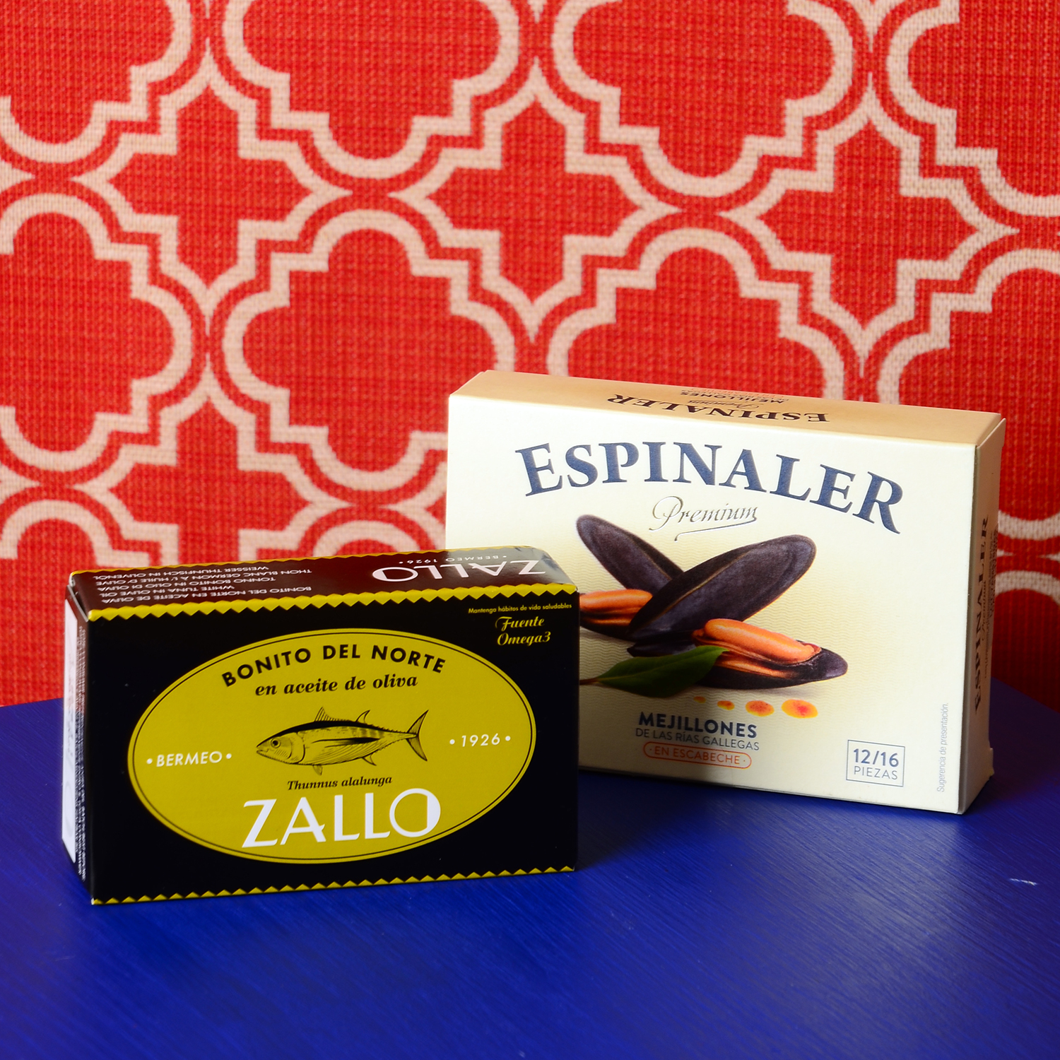 Spanish Duo   £12.90  Diverse and tasty, these premium tins are a match made in heaven for the Spanish food connoisseur. The Espinaler mussels are selected and hand-prepared by family run Galician canneries. A source of proteins and minerals, mussels are great for those who hit the gym a few times a week.