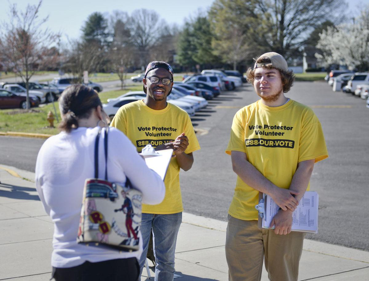 David A. and Zach B. doing voter protection efforts in North Carolina