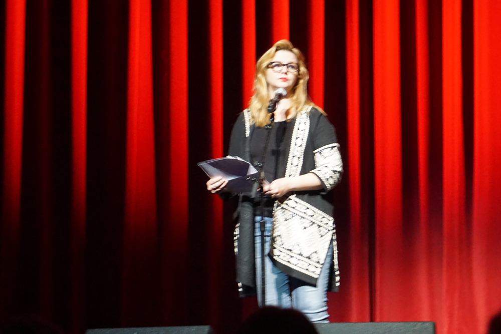 Amber Tamblyn at Festival of Disruption - Festival of Disruption Curated by David Lynch in LA at the Ace Hotel October 2018. © intothesunentertainment