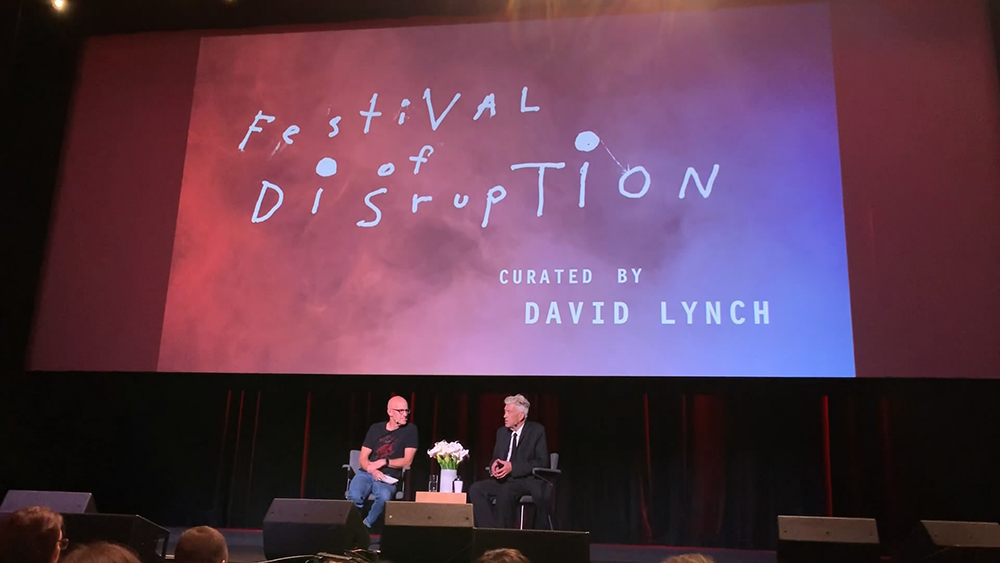 Q&A David Lynch at Festival of Disruption 2 - Festival of Disruption Curated by David Lynch in LA at the Ace Hotel October 2018. © intothesunentertainment
