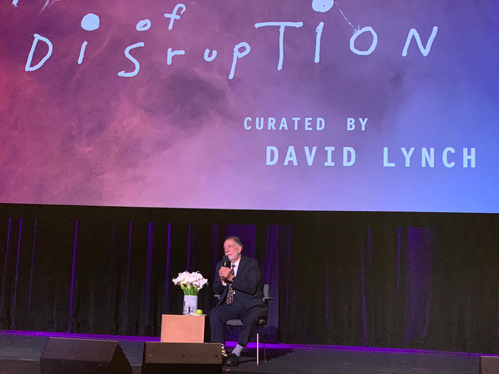 Q&A Francis Ford Coppola - Festival of Disruption Curated by David Lynch in LA at the Ace Hotel October 2018. © intothesunentertainment