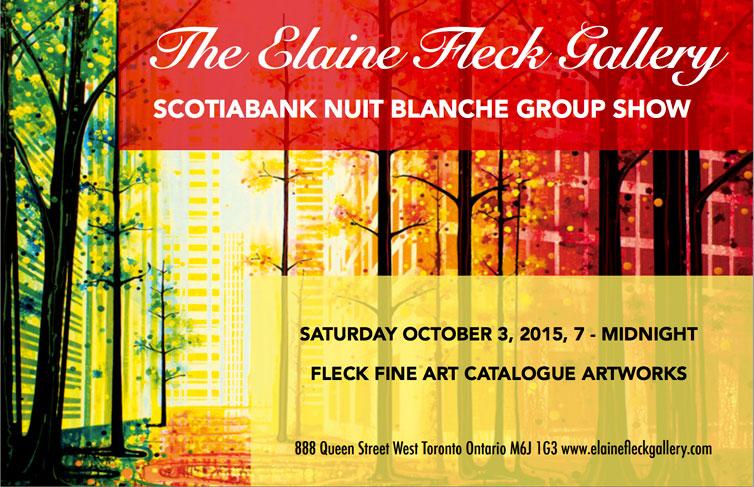 Elaine Fleck Gallery Nuit Blanche