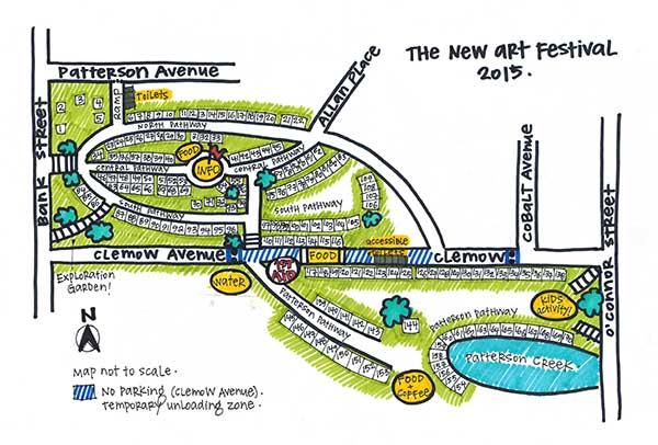 The New Art Festival 2015 map