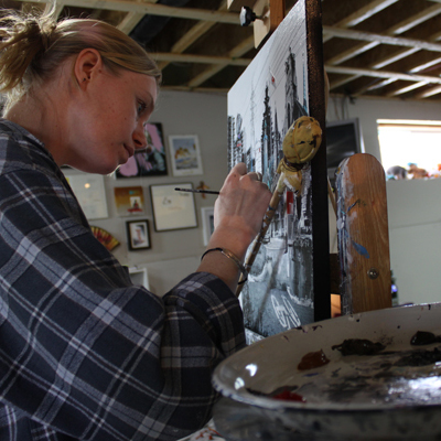 Denise Buisman Pilger working