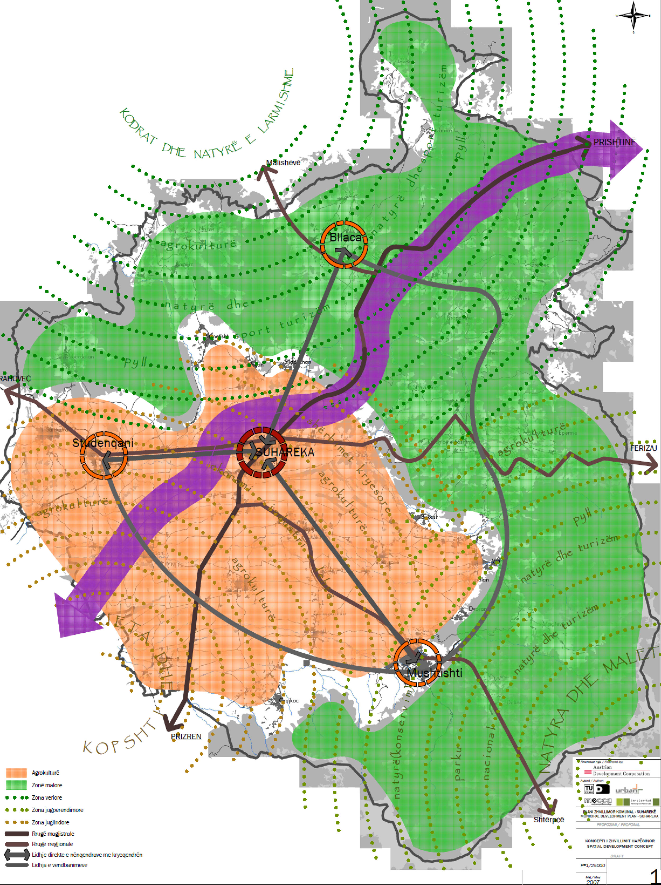 development plan - Year: 2006Location: Suhareka, KosovoClient: Municipality of SuharekaMunicipal Development Plan
