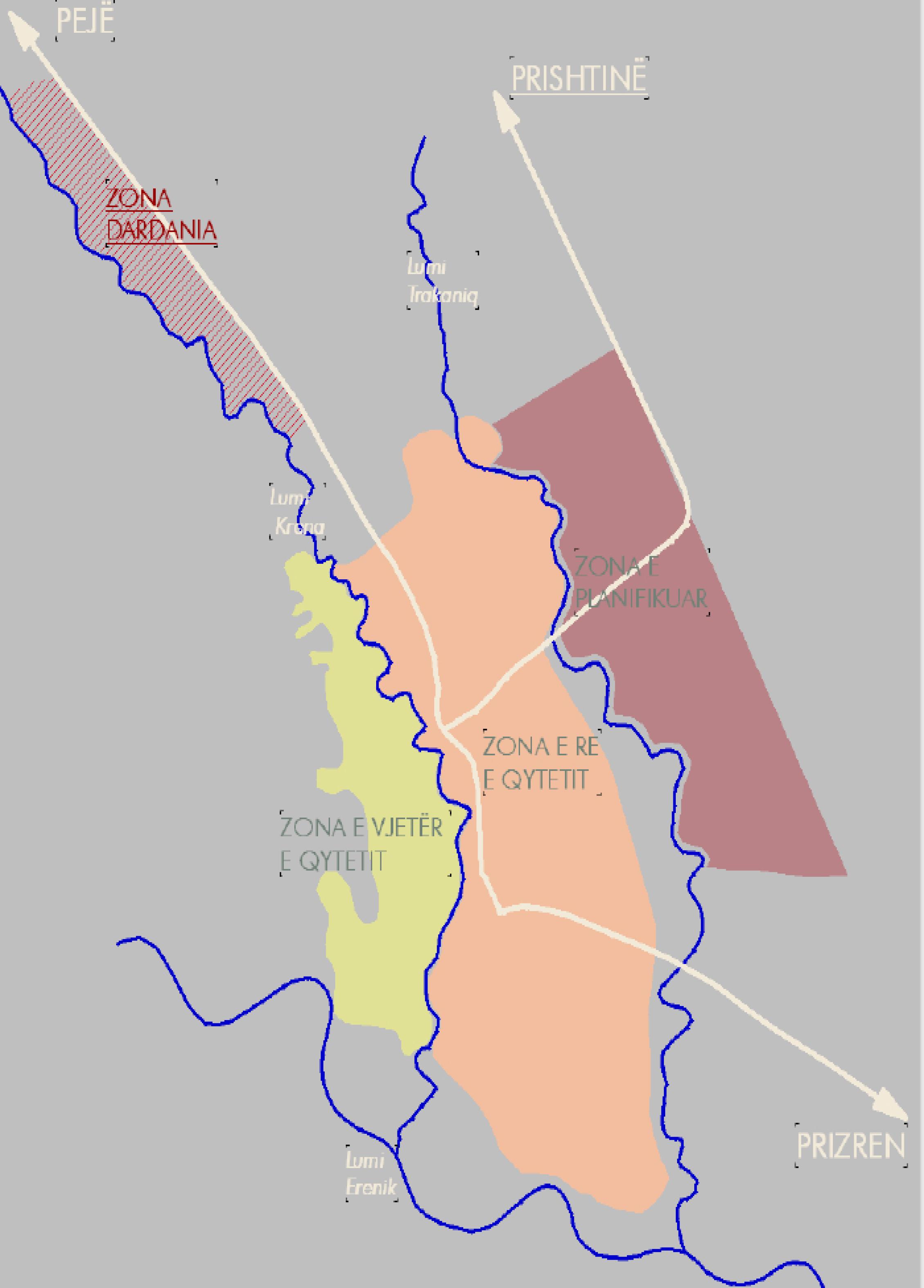 dardania perendimore - Year: 2004 Location: Gjakova, KosovoClient: Municipality of GjakovaUrban Regulatory Plan