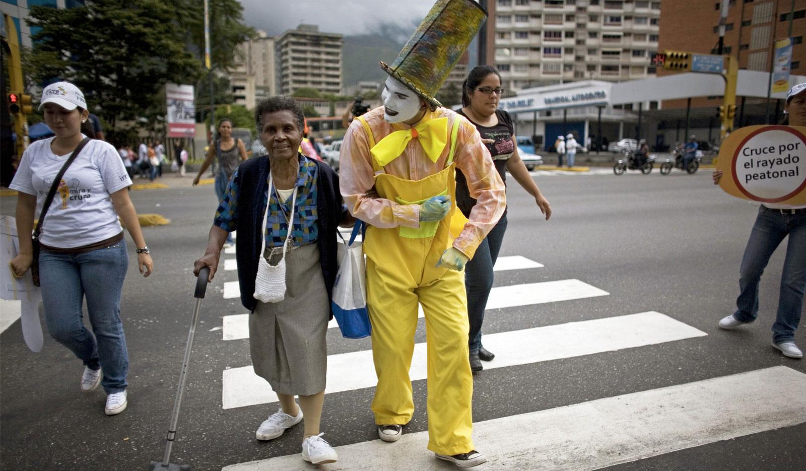 * Traffic Clowns in Bogotá.