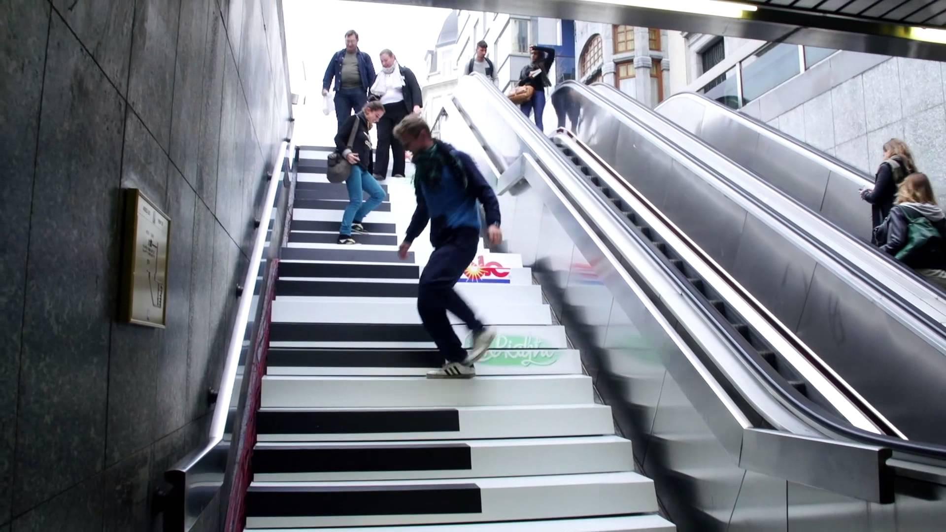 * Piano Stairs van Odenplan. Stockholm.