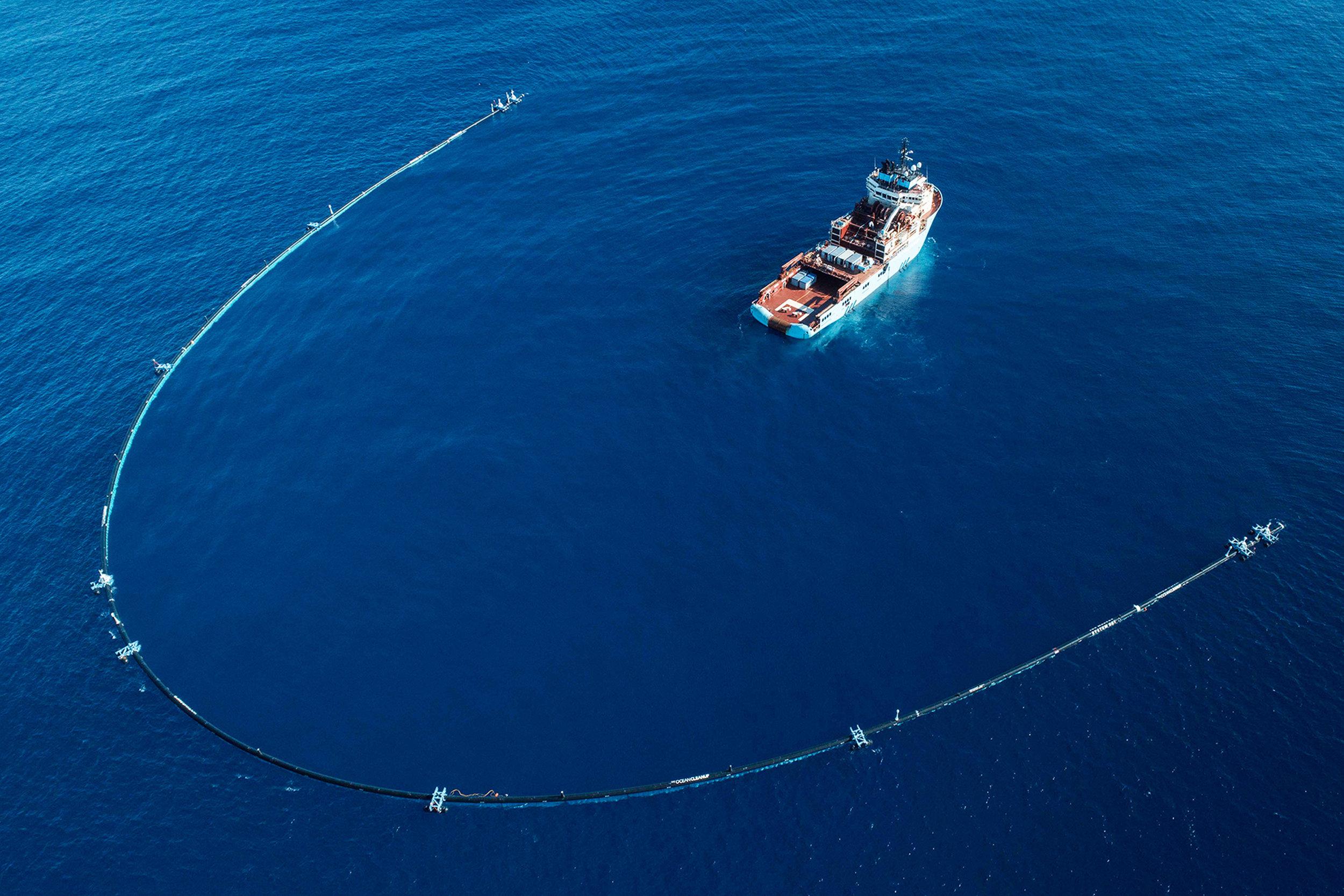 * De Ocean Cleanup van Boyan Slat.