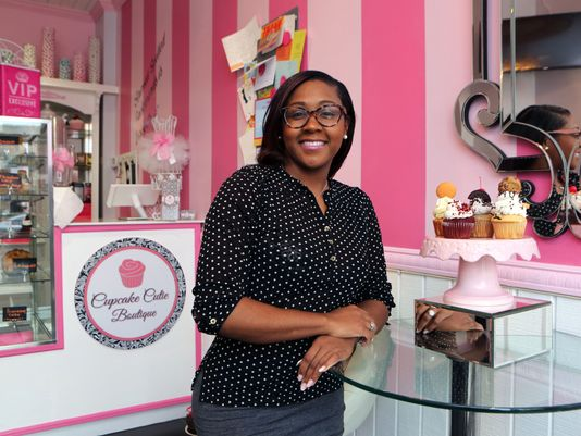 Baker/owner Miesha Stokely is pictured in her Cupcake Cutie Boutique on South 6th Avenue in Mount Vernon, March 7, 2017.  (Photo: Mark Vergari/The Journal News)
