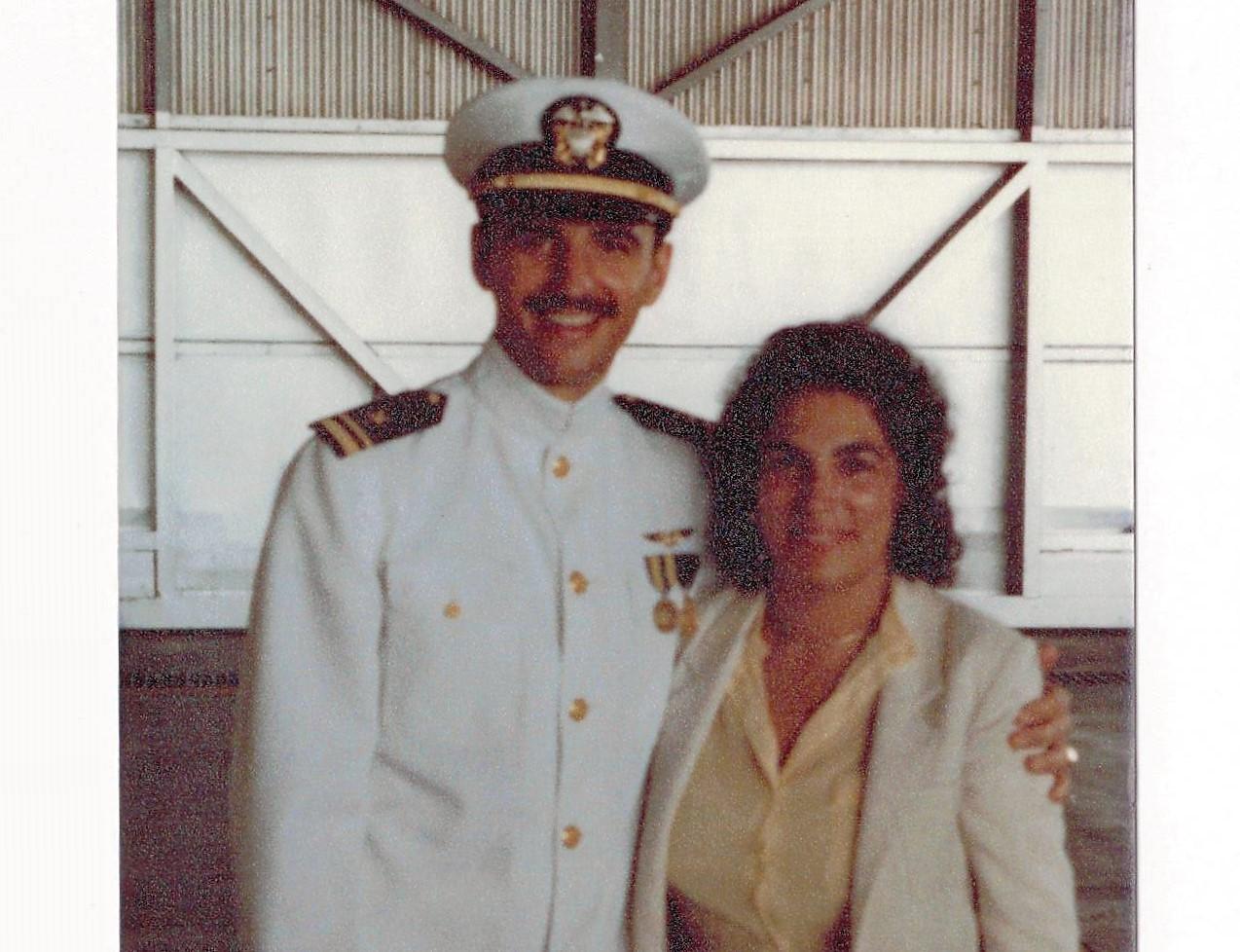 Ltjg Tzitzura and Wife Terri (VQ-1 Guam)- 1981