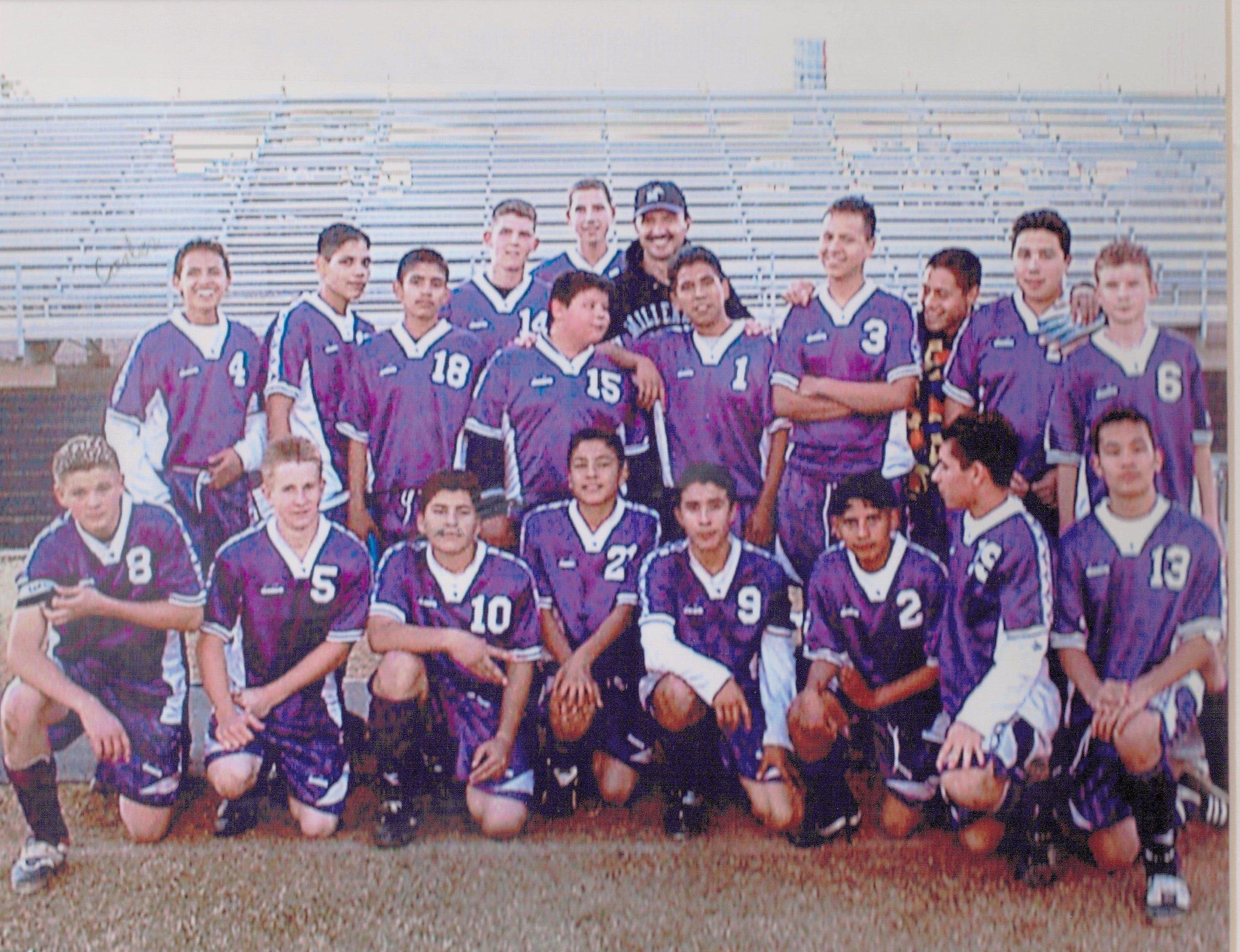 Millennium H.S. JV Soccer Team- 2001