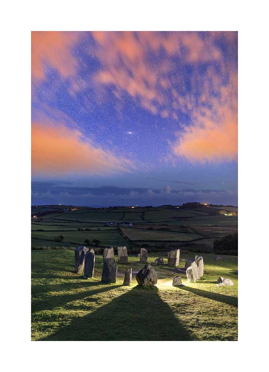 Drombeg standing stones circle, Ireland