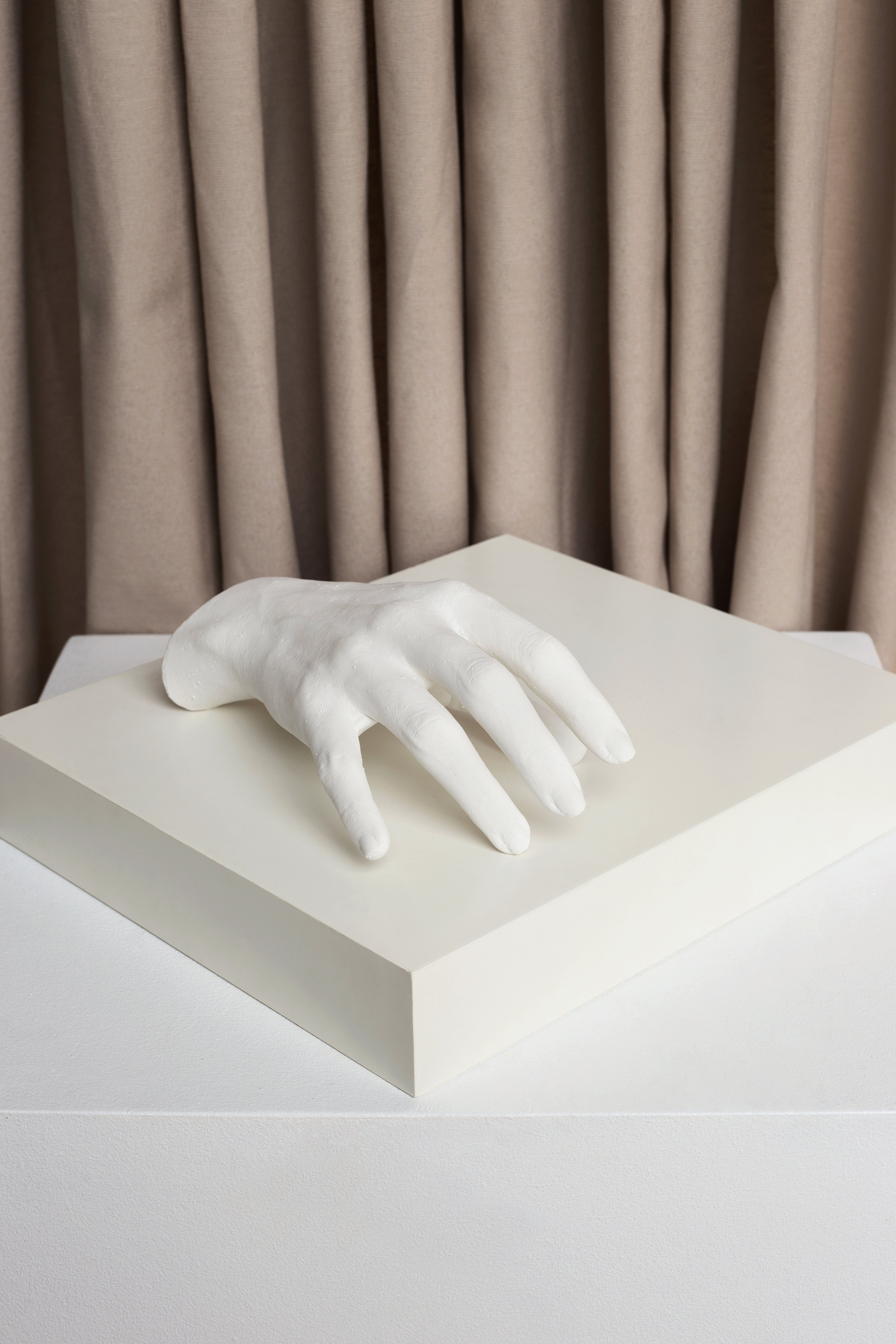 Plaster Hand  Set: La Cueva Studio & Marcela Luna  Photo: Erika Anes