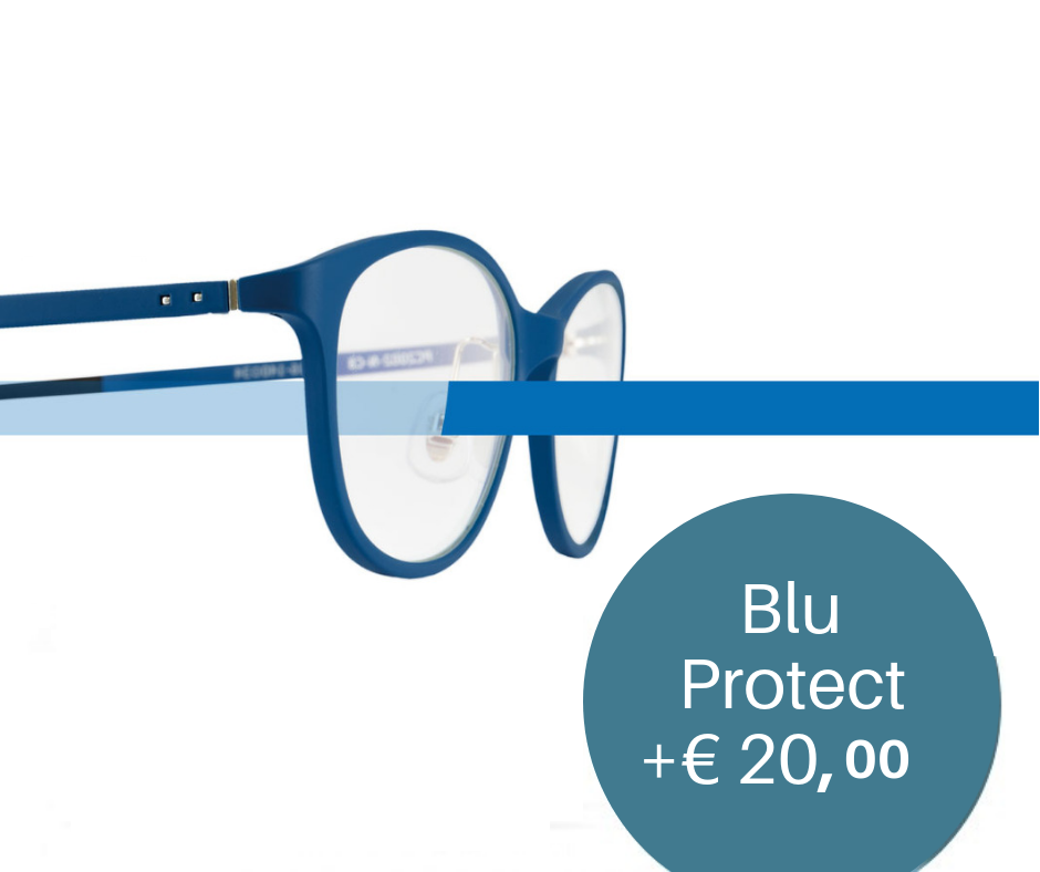 Trattamento Blu Protect   Protezione dalla luce blu emessa dai dispositivi elettronici come tablet, smartphone e pc. Riduce lo stress visivo, ideale per chi lavora in ufficio.
