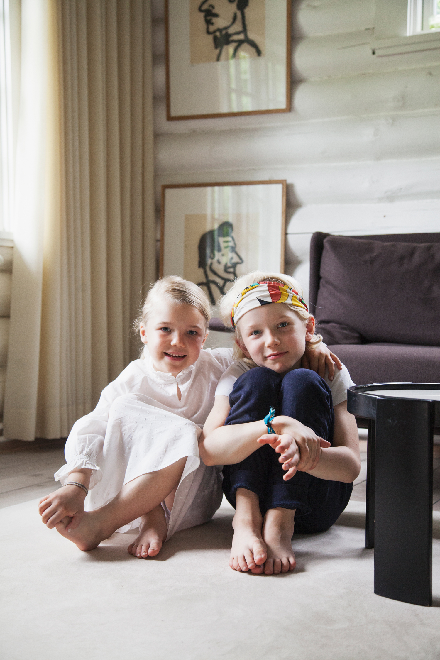 All happy wearing some of their favourites – a headband and the  Martha dress .