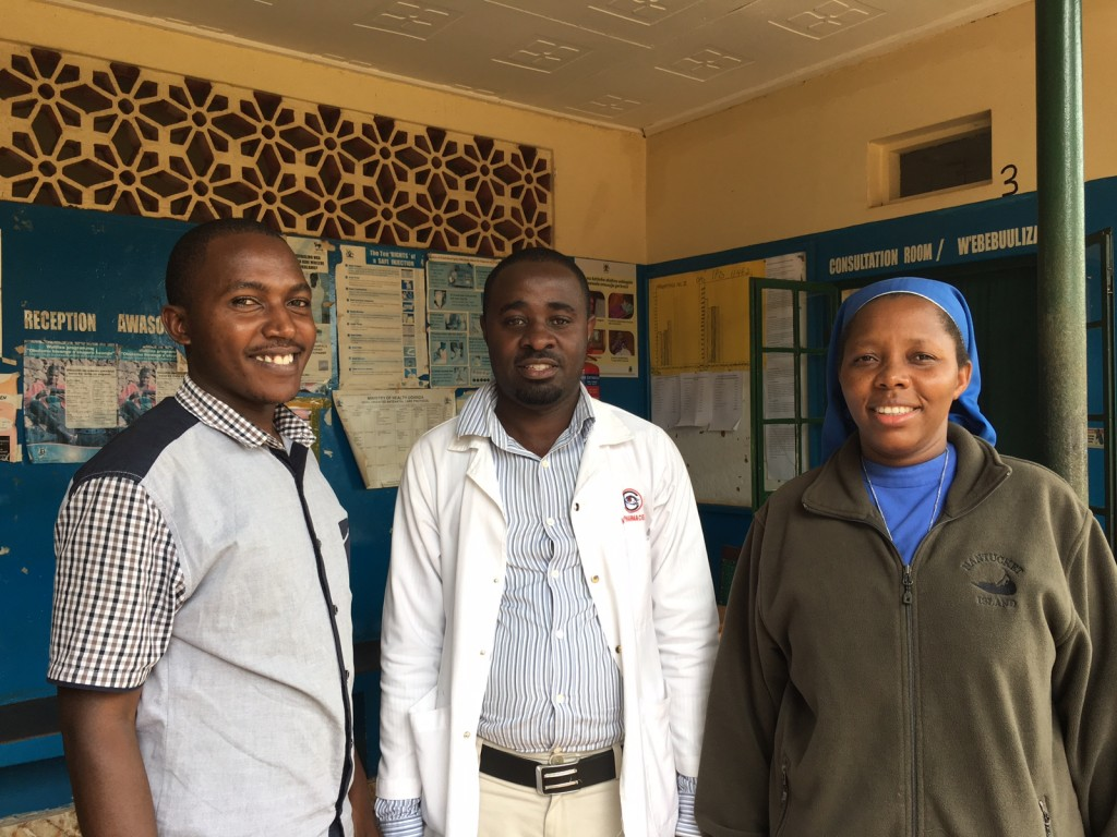 Moses, Ben and Sister Angela. Ben is the newest obstetric ultrasound trainee at Nawanyago.