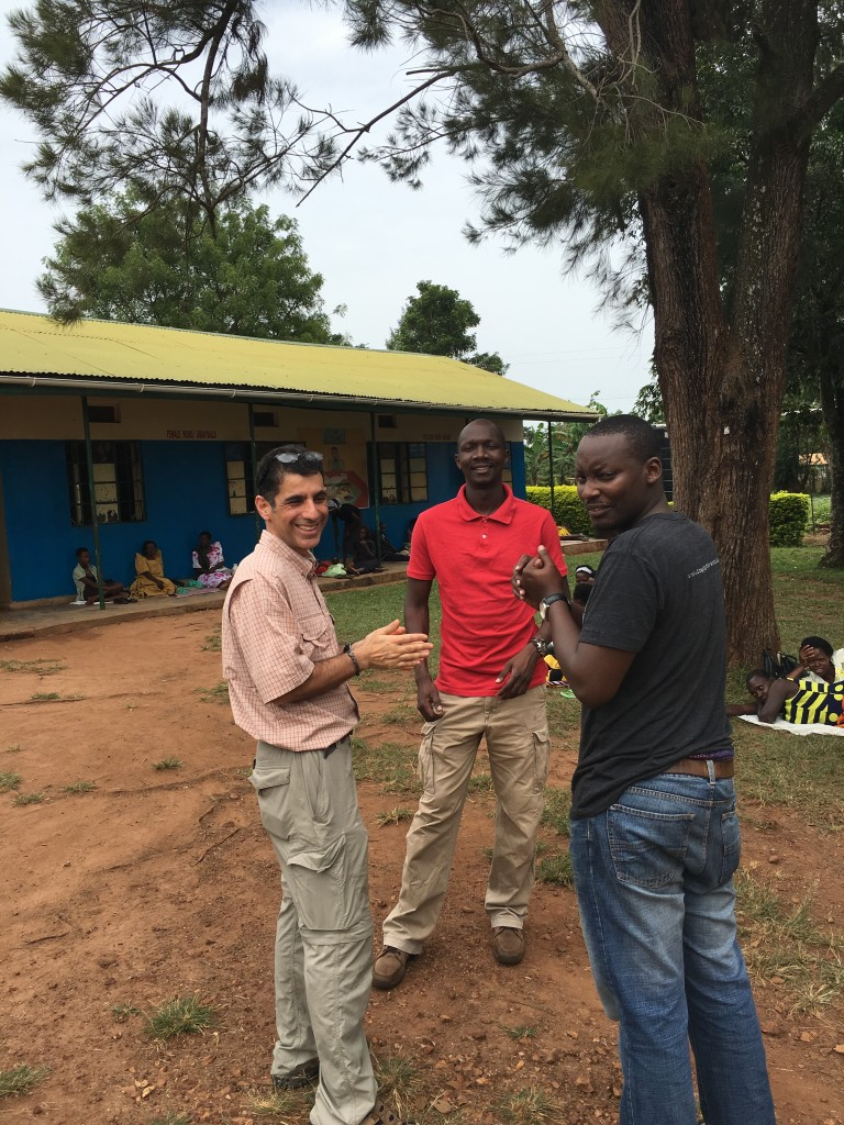 Sam with the team at Nawanyago.