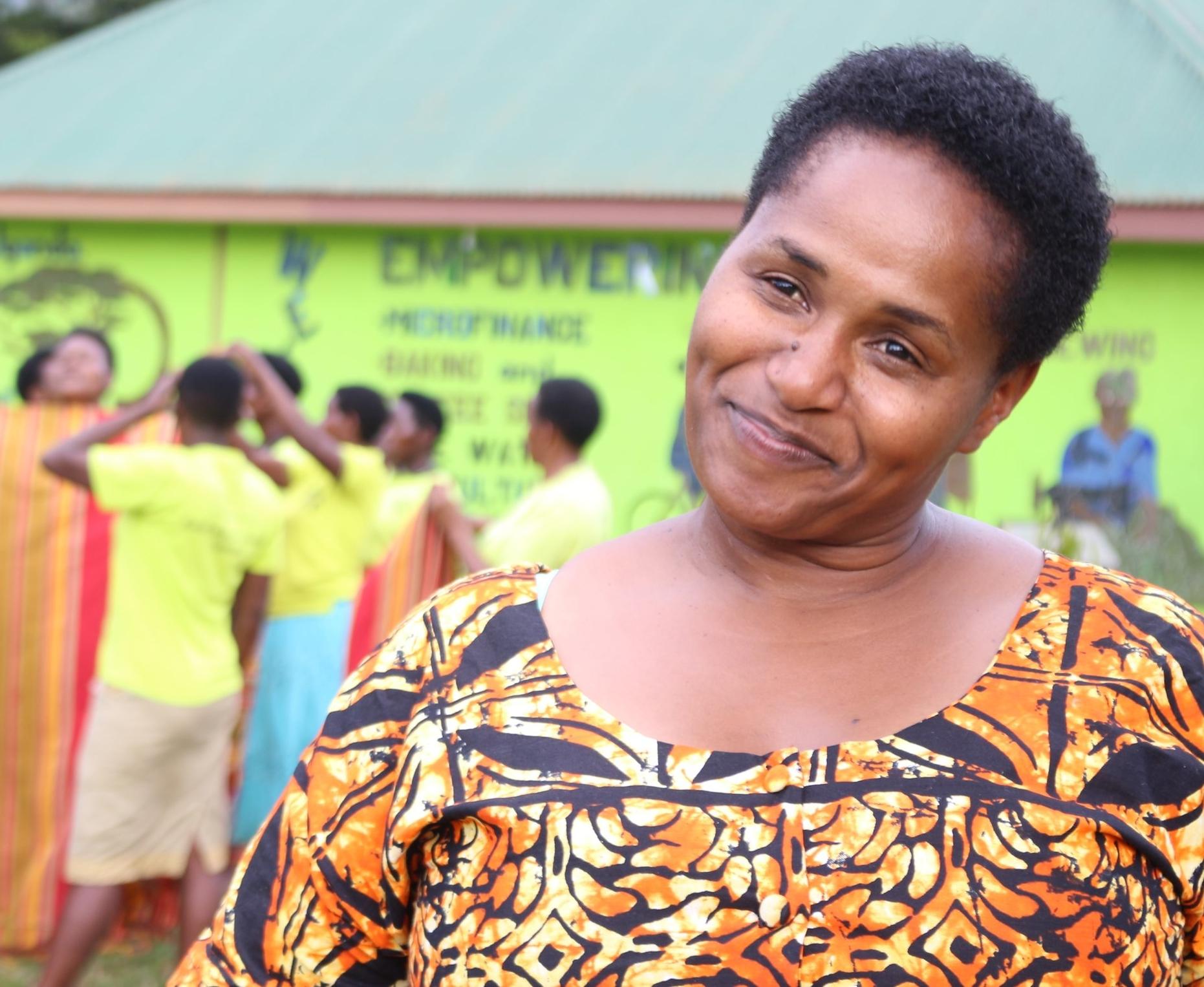 Habasa Rubalema of Ride 4 A Woman, a collaborative partner in Bwindi, Uganda.