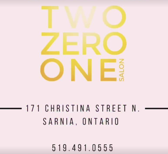 two zero one salon - 171 Christina St N.Sarnia, ONCanadaInstagram: twozeroonesalonPhone: 519 491 0555Facebook: Two Zero One Salonhttps://www.facebook.com/twozeroonesalon/