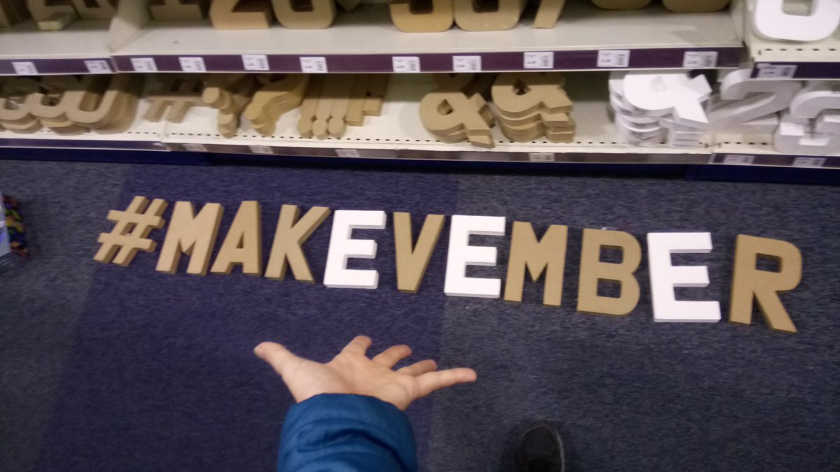 Making.... A pain of myself in Hobbycraft  #Makevember  by Tanya Fish  https://twitter.com/tanurai
