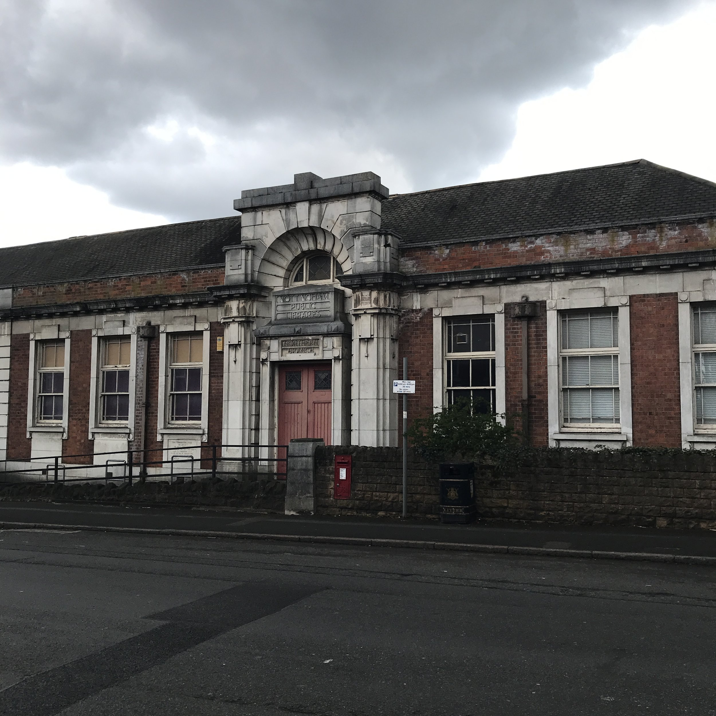 Nottingham Public Libraries, Northern Branch. Highbury Road, Bulwell.
