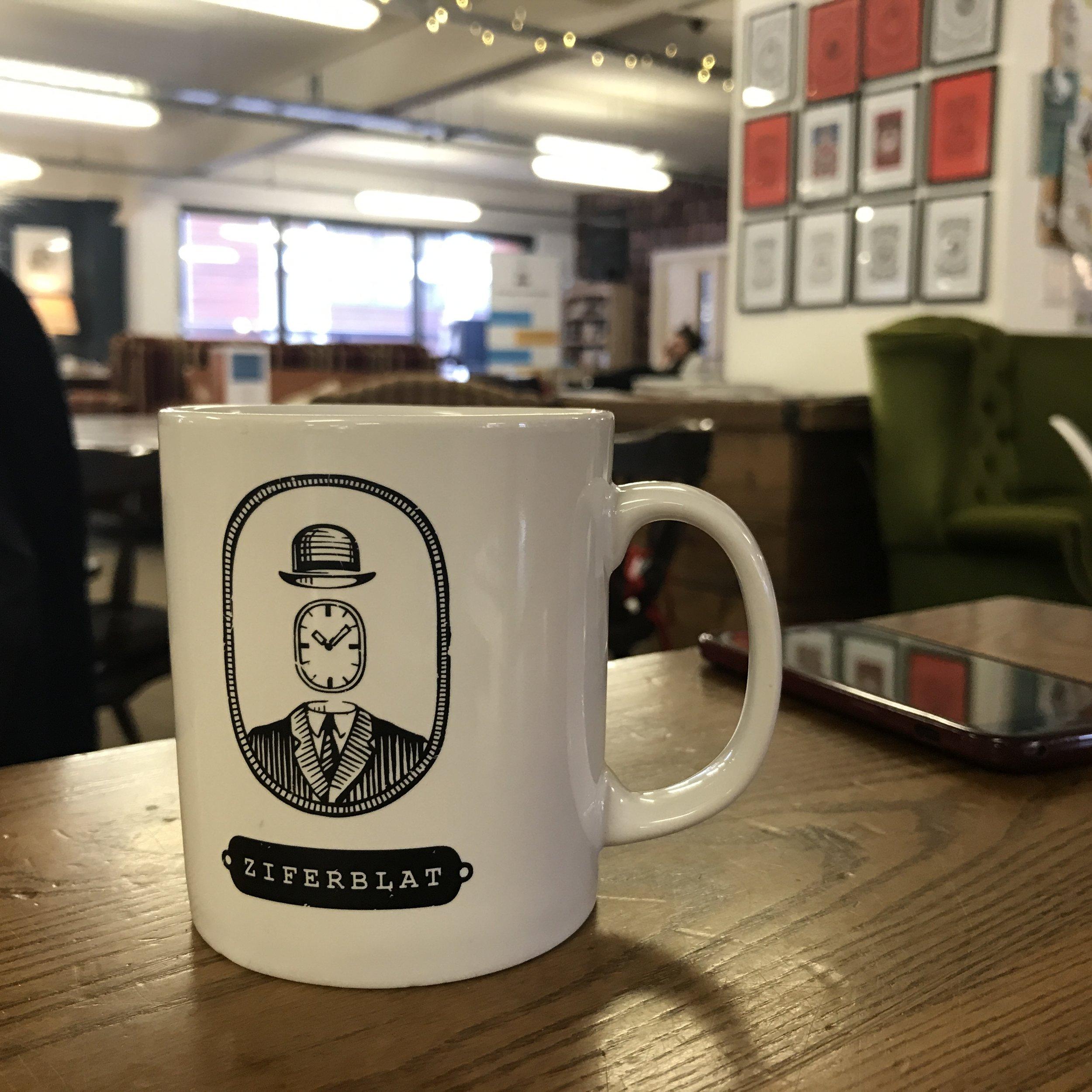 Ziferblat logo on my mug.