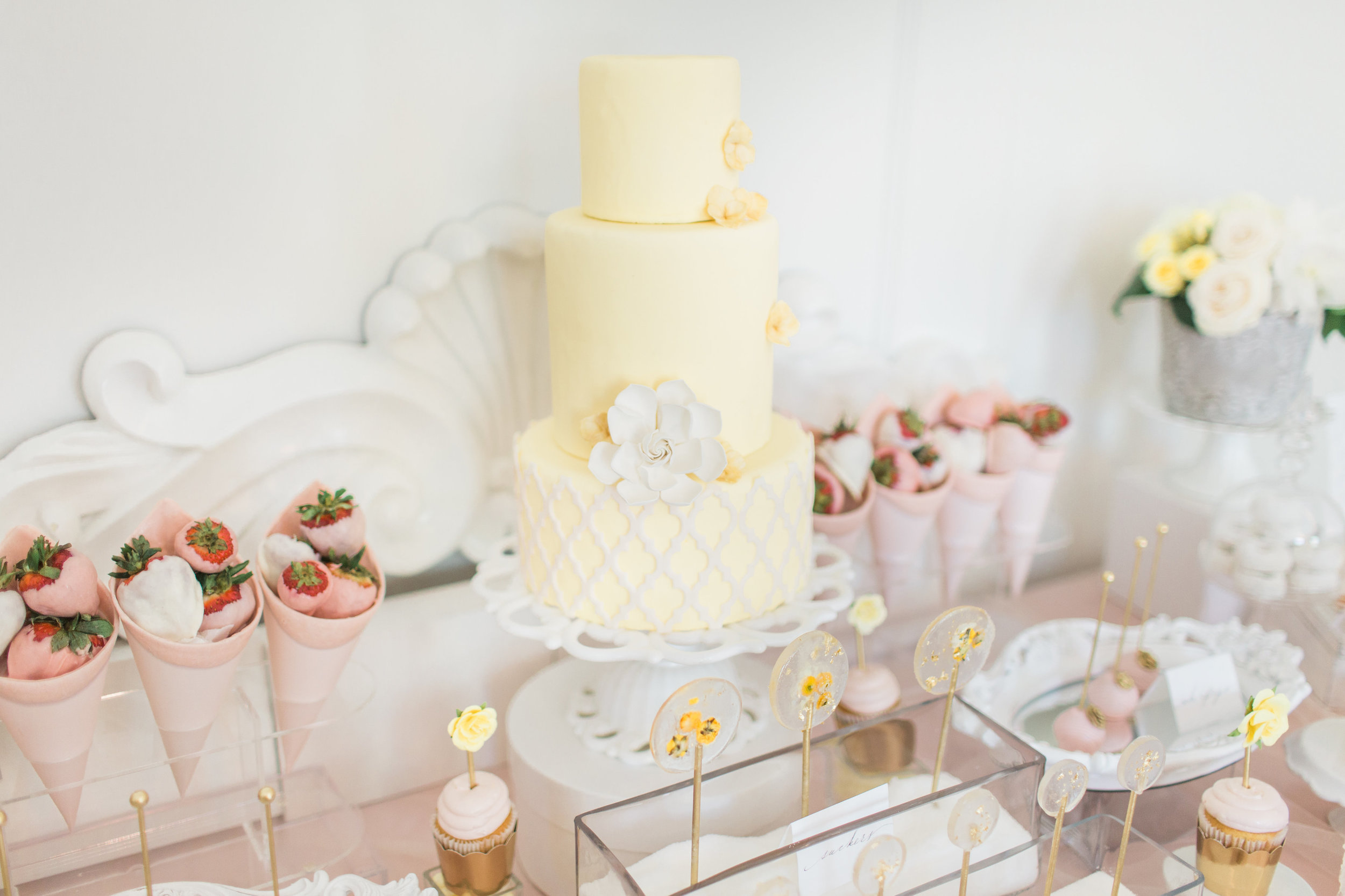 Styled Sweet Table Featured in Wedluxe