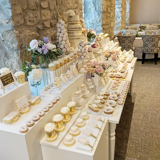 Guests walked into this at Victoria and Alex's wedding 😍  #theartofsweets #sweetstable #sweettable #desserttable #dessert #sweets #wedding #weddingsweettable #weddingcake #cake #macarons #cakepops #macarontower #blush #spoilyourguests