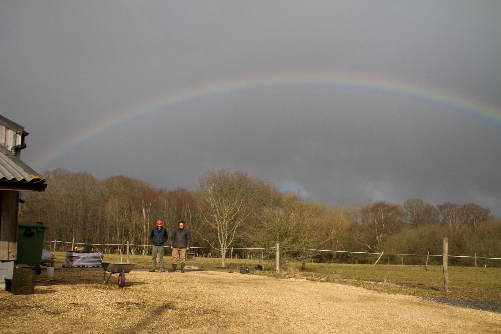 Rainbow over Gun Brewery